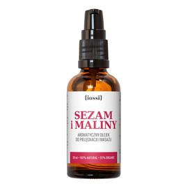 Sezam i Maliny Aromatyczny olejek przeciw rozstępom
