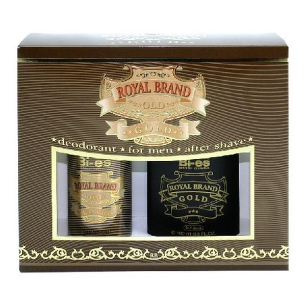 Bi-es Royal Brand Gold Komplet Kosmetyków Woda Po Goleniu + Dezodorant