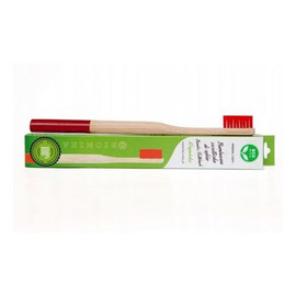 Bambusowa Szczoteczka Do Zębów Czerwona