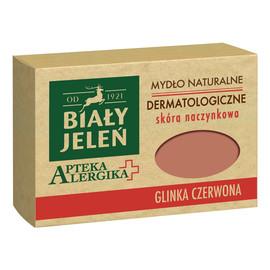 Dermatologiczne mydło naturalne Glinka czerwona - skóra naczynkowa