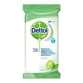 Antybakteryjne i drożdżakobójcze chusteczki do mycia i dezynfekcji powierzchni Limonka & Mięta 36szt