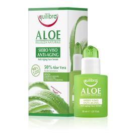 aloesowe przeciwstarzeniowe serum do twarzy z kwasem hialuronowym