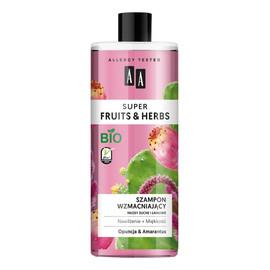 szampon wzmacniający włosy suche i łamliwe Opuncja & Amarantus