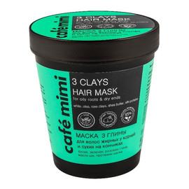 Maska 3 Glinki do włosów tłustych u nasady i suchych na końcach