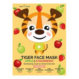 Tiger Face Mask rewitalizująca maseczka odświeżająca w płachcie do skóry zmęczonej Apple & Strawberry