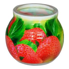Świeca zapachowa STRAWBERRY szklanka powlekana