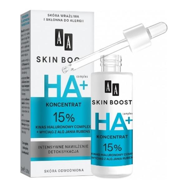AA Skin Boost Koncentrat 15% kwas hialuronowy complex + wyciąg z alg Jania rubens 30ml