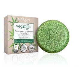 Veganbar szampon do włosów cienkich i przetłuszczających się w kostce olej z konopi & kawa
