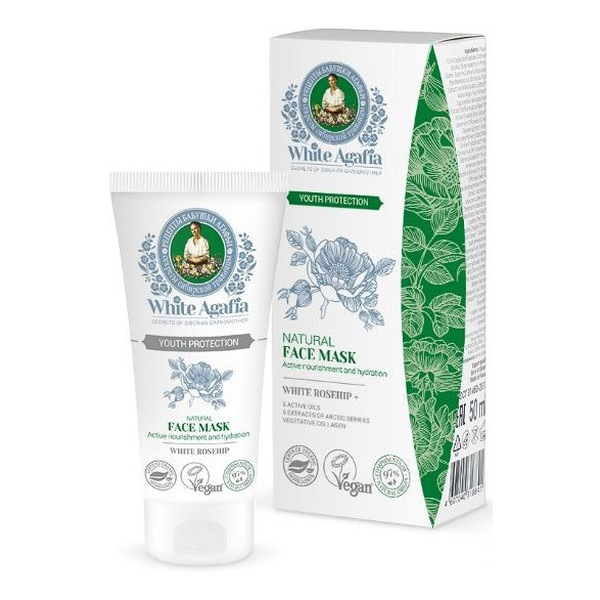Bania Agafii Natural Face Mask Naturalna Odżywcza Maseczka do Twarzy do 35 lat Zachowanie Młodości 50ml