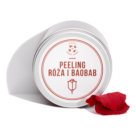 Peeling Róża i Baobab do ciała z cukrem trzcinowym