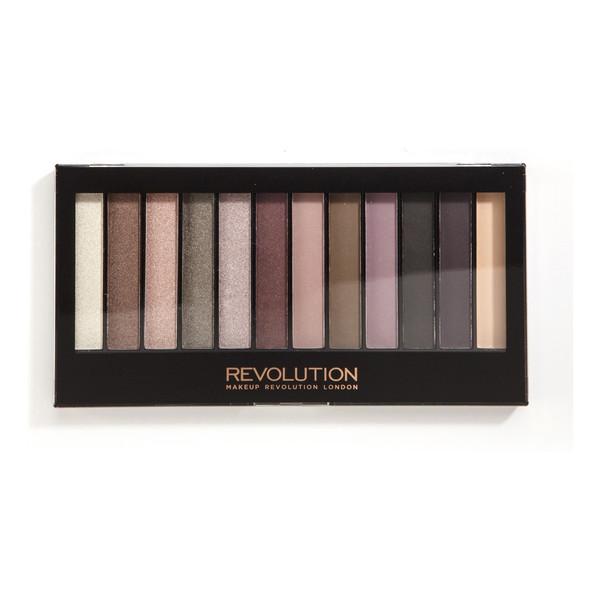 Makeup Revolution 12 Shade Palette Romantic Smoked Paleta 12 Cieni Do Powiek 14g