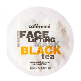 Maseczka-scrub do twarzy Czarna herbata i trawa cytrynowa