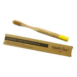 Bambusowa szczoteczka do zębów dla dzieci- żółta, włosie miękkie