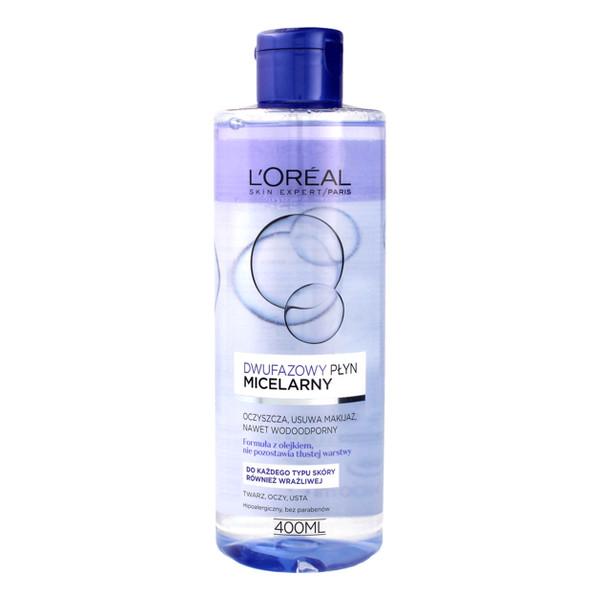 L'Oreal Skin Expert Płyn micelarny dwufazowy - cera każdego typu 400ml