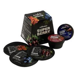zestaw podarunkowy SUPER BERRY, peeling 50 ml, maska 3 Szt., Krem Do Twarzy