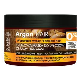Maska do włosów z olejem arganowym i keratyną
