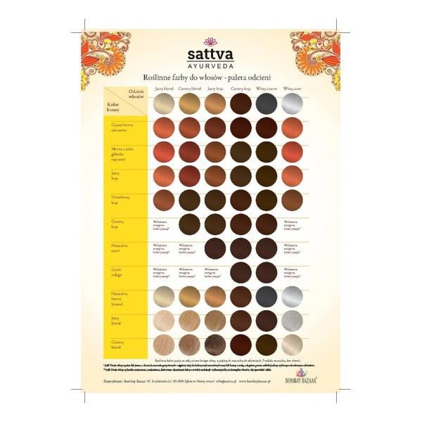 Sattva Naturalna Ziołowa Farba/henna Do Włosów 150g