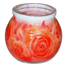 Świeca zapachowa ROSE szklanka powlekana