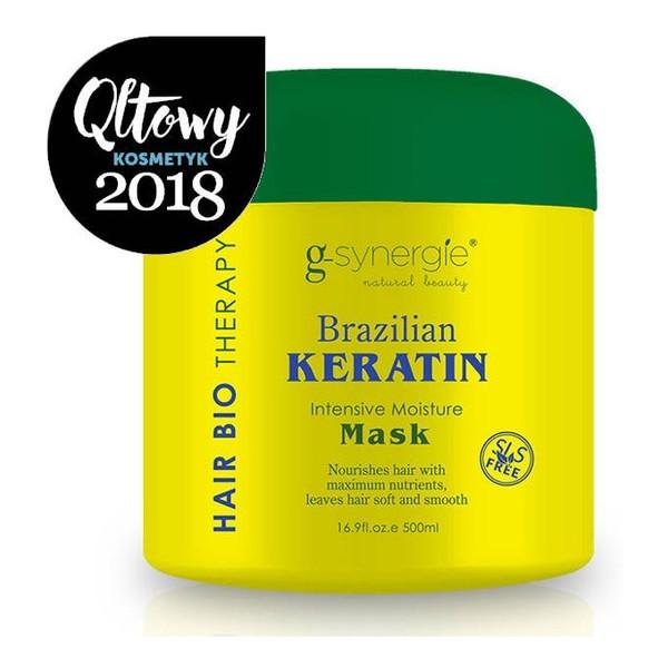 G-Synergie Brazilian Keratin maska intensywnie nawilżająca włosy 500ml