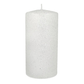 ARTMAN Świeca ozdobna Glamour biała - walec mały