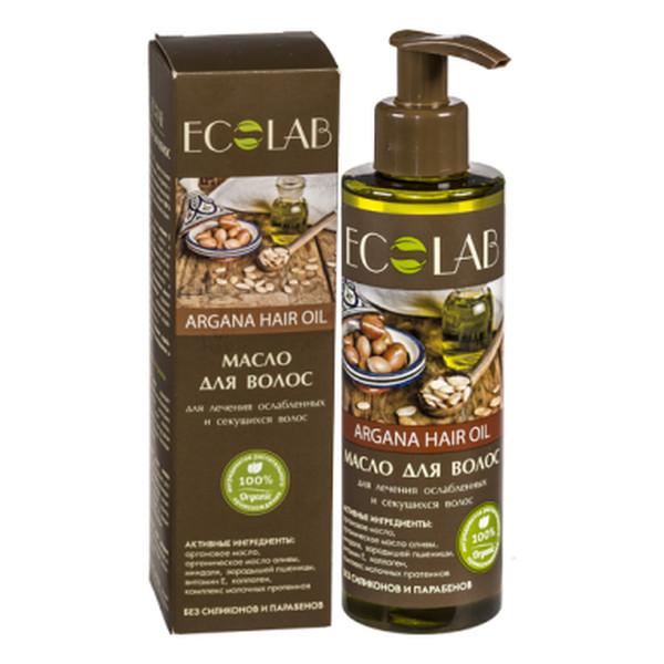 Ecolab Ec Laboratorie Arganowy Olej Do Włosów Wzmocnienie Słabych i Łamliwych Włosów 200ml