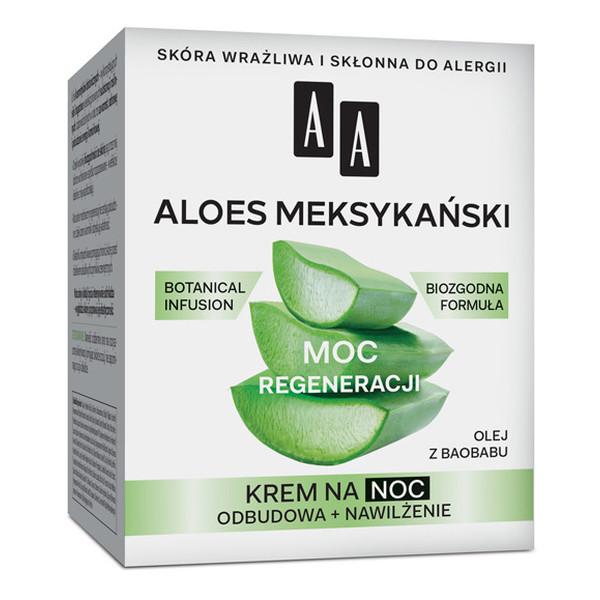 AA Moc Regeneracji Aloes Meksykański Krem na noc Odbudowa + Nawilżenie 50ml