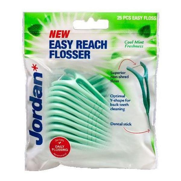 Jordan Easy Reach Flosser Nici dentystyczne i wykałaczki 2w1
