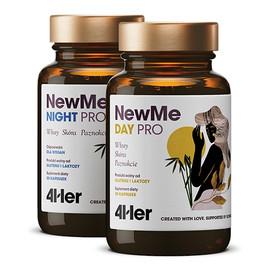 4her newme pro day+night witaminy i minerały na włosy skórę i paznokcie suplement diety 60 kapsułek