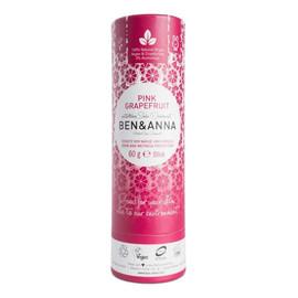 naturalny dezodorant na bazie sody sztyft kartonowy Pink Grapefruit