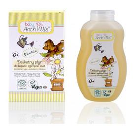 delikatny płyn do kąpieli i szampon 2w1