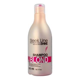 szampon nadający różowy odcień do włosów blond z jedwabiem