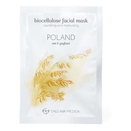 Poland Nourishing & Moisturizing Biocellulose Facial Mask odżywczo-nawilżająca maseczka z biocelulozy Oat & Yoghurt