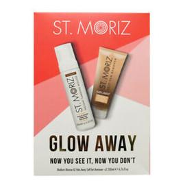 Zestaw Glow Away samoopalacz mus Medium + scrub peeling do ciała