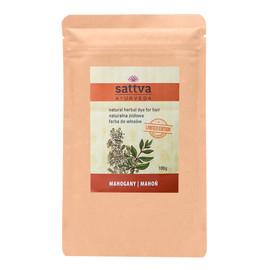 Natural herbal dye for hair naturalna ziołowa farba do włosów mahogany