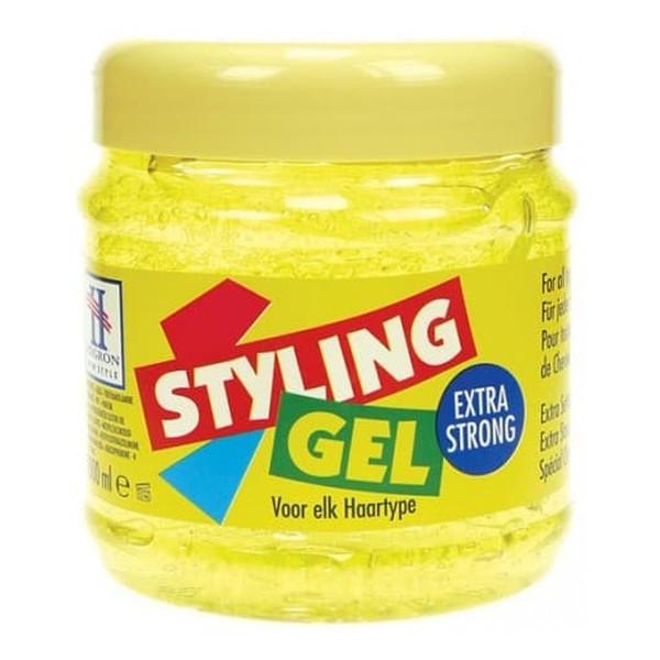 Hegron Styling Żel do modelowania włosów extra strong żółty - TENEX 250ml