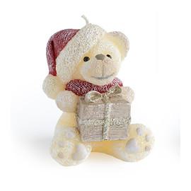 Świeca TEDDY Świąteczny figurka Krem