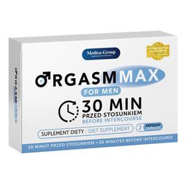 Orgasm max for men suplement diety na szybką i długą erekcję 2 kapsułki