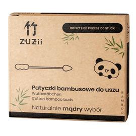 Patyczki higieniczne bambusowe z bawełną (bałwanek-szpic) 100 szt