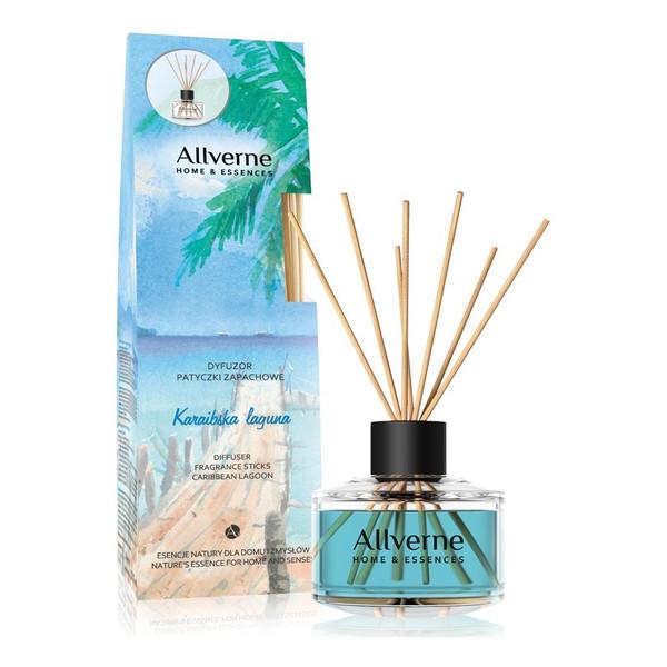 Allverne Home & Essences Dyfuzor z patyczkami zapachowymi Karaibska Laguna 100ml