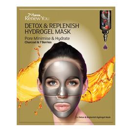 Detox & Replenish Hydrogel Mask hydrożelowa nawilżająca maseczka do twarzy minimalizująca pory Charcoal & 7 Berries