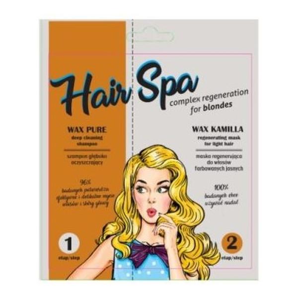 Pilomax Wax Hair Spa ZESTAW MASKA KAMILLA 25ML +SZAMPON 10ML