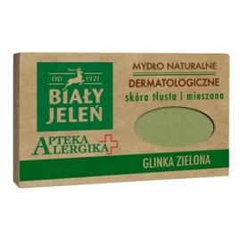 Dermatologiczne mydło z glinką zieloną, cera tłusta i mieszana