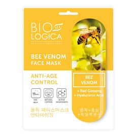 """Maska do twarzy w płachcie """"Pielęgnacja anti-age"""" z jadem pszczelim"""
