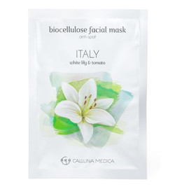 Italy Anti-Spot Biocellulose Facial Mask redukująca przebarwienia maseczka z biocelulozy White Lily & Tomato