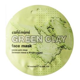 Maseczka do twarzy Zielona glinka i jagody Goji