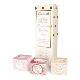 Zestaw krem pod oczy 15ml + krem arganowy na dzień z witaminą e 30+ 50ml + krem arganowy na noc z kwasem hialuronowym 30+ 50ml