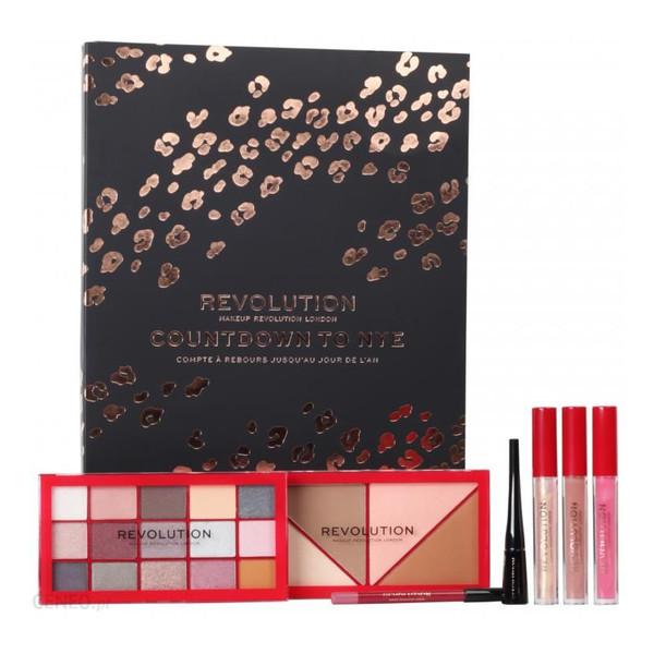 Makeup Revolution XMAS Countdown to NYE Kalendarz sylwestrowy z kosmetykami do makijażu 2019