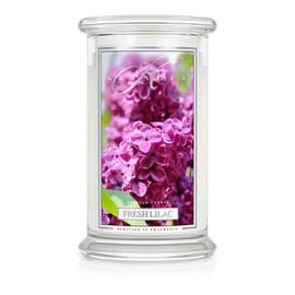 Duża świeca zapachowa z dwoma knotami fresh lilac