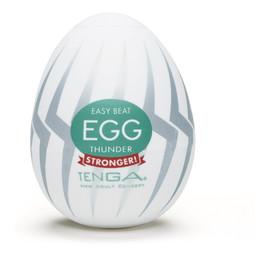 Easy beat egg thunder jednorazowy masturbator w kształcie jajka