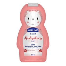 Żel do mycia ciała,włosów i twarzy 3w1 dla dzieci Landrynkowy
